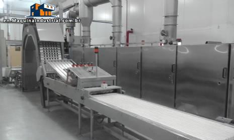 Continuous manufacturing industrial furnace cone/ice cream maker biju Haas