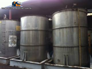3 stainless steel Tanks.